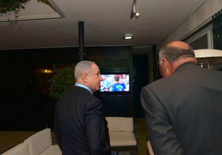 PM Netanyahu with FM Shoukry in Jerusalem