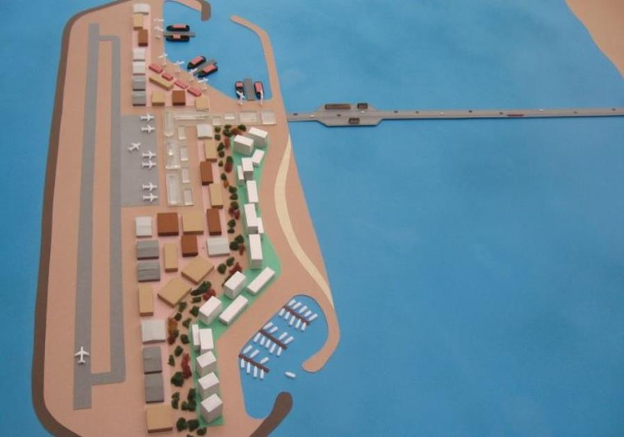 AN ARTIST'S rendition of a Gaza port on a man-made island.