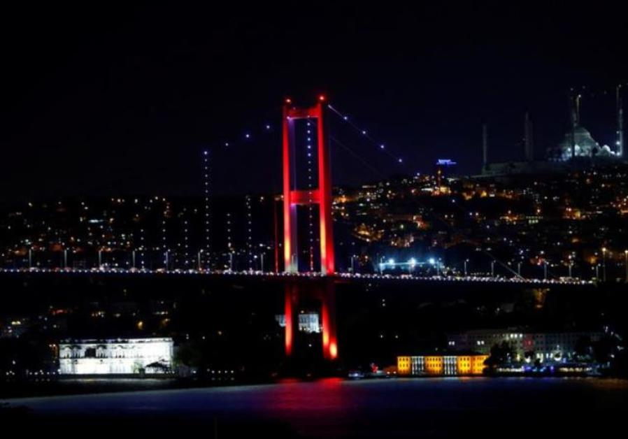 Bosphorus bridge, which links the city's European and Asian sides, is pictured in Istanbul, Turkey