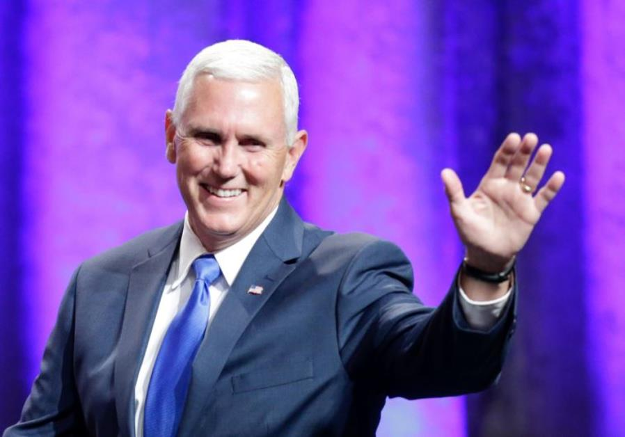US Republican VP candidate and Indiana Gov. Mike Pence