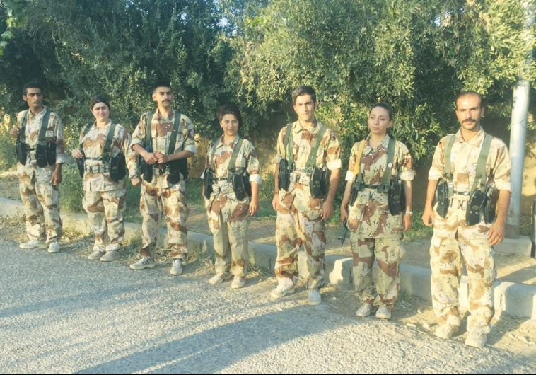 KURDISH PDKI Peshmerga train to go to Iran to resist the regime.