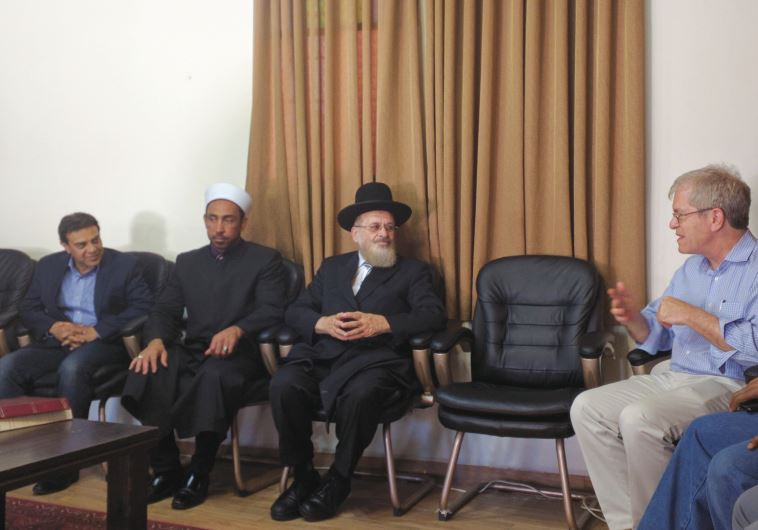 Robert Silverman meets with religious leaders during his visit to Israel this week.
