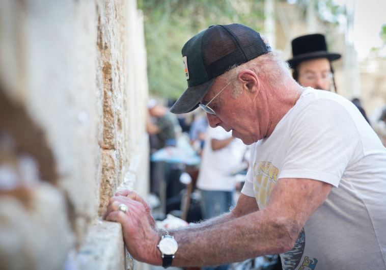 ACTOR JAMES Caan on Tuesday at the Western Wall