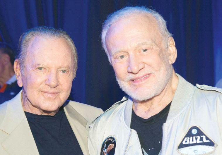 BUZZ ALDRIN with Morris Kahn.