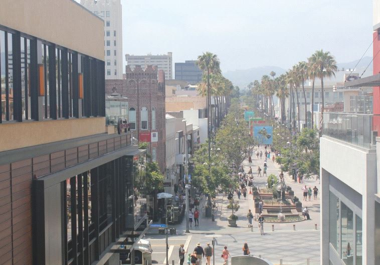 There is shopping galore along the Third Street Promenade.