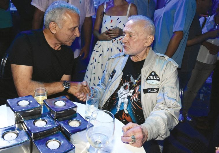 EITAN BEN ELIYAHU (left) and Buzz Aldrin.