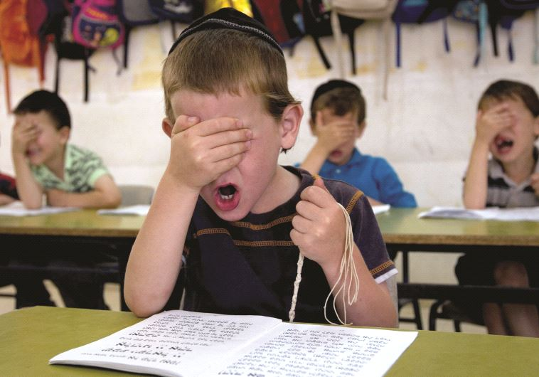 Elève dans une école harédi