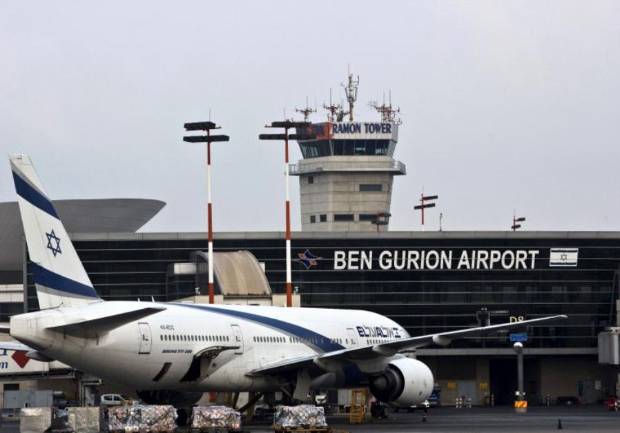 an EL AL Boeing 777 aircraft at Ben Gurion International Airport near Tel Aviv,