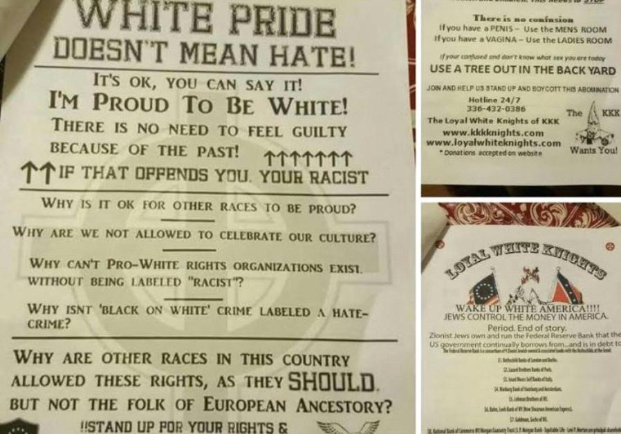 Kkk Fliers In Ny Accuse Jews Of Controlling The Money In America