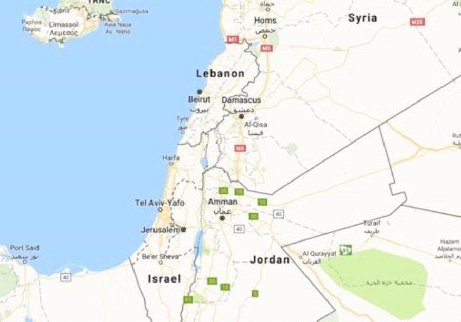 Google map bug sparks outrage over removal of palestine from maps google maps view of israel and the surrounding region gumiabroncs Image collections