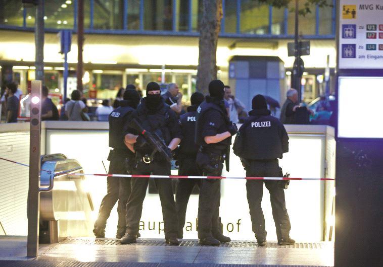 La police allemande en intervention