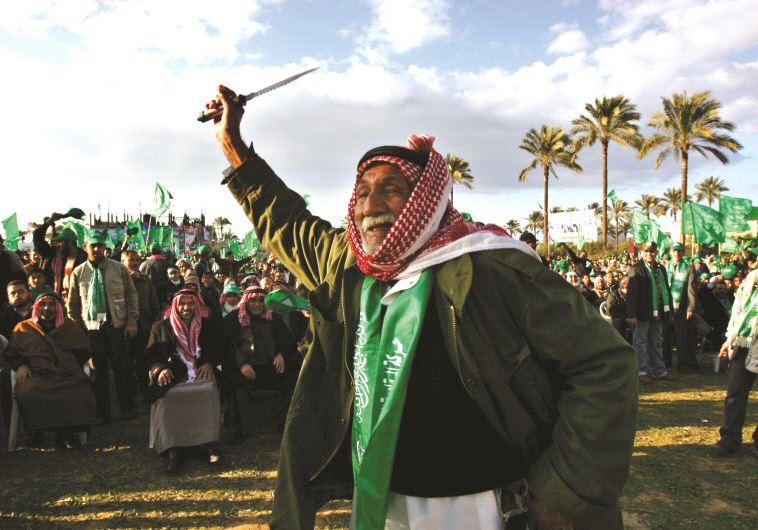 Partisans du Hamas lors des élections de 2006