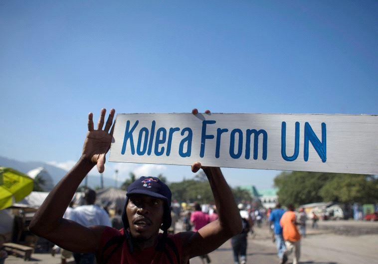 protest against un haiti