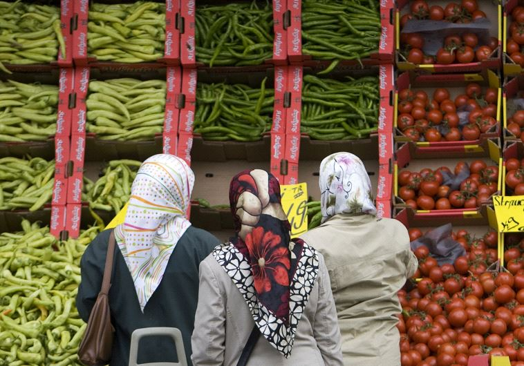 women in headscarves