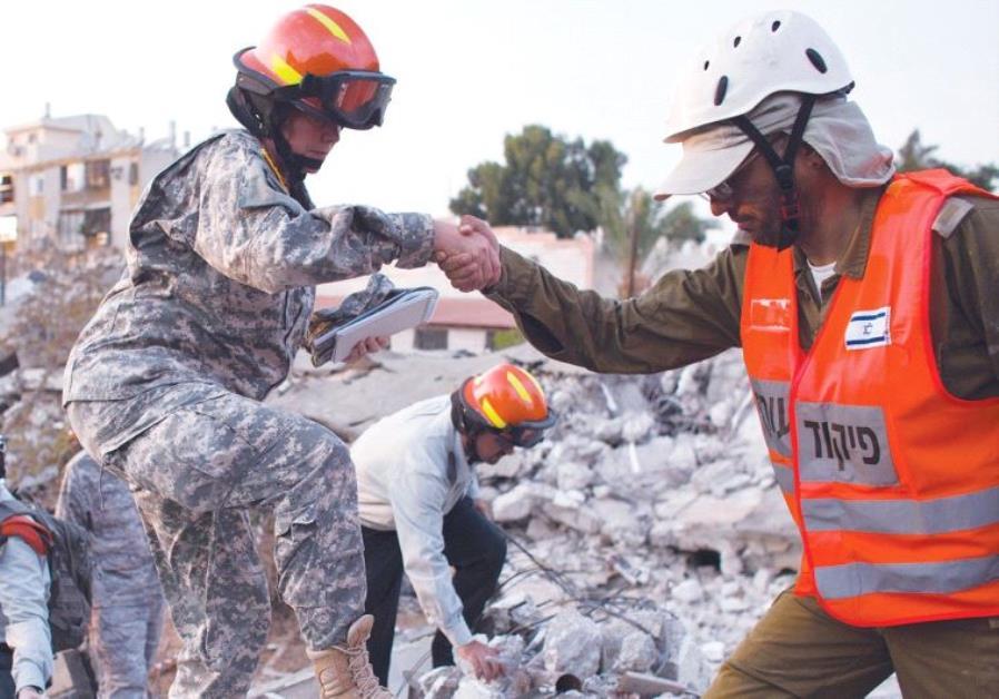 earthquake drill in Holon