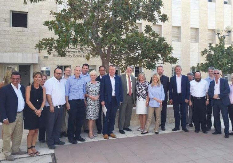 CONSERVATIVE FRIENDS of Israel at the Jerusalem College of Technology.