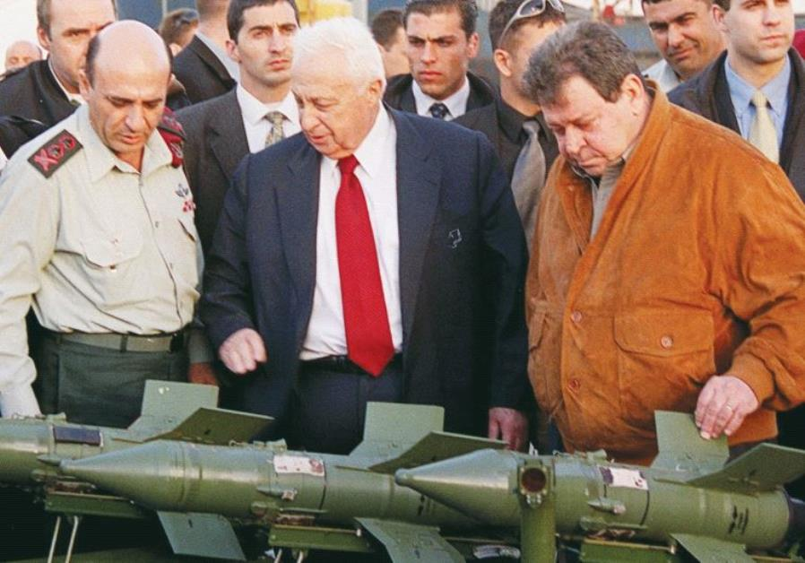 FORMER LEADERS (from left) chief of staff Shaul Mofaz, prime minister Ariel Sharon, and defense mini