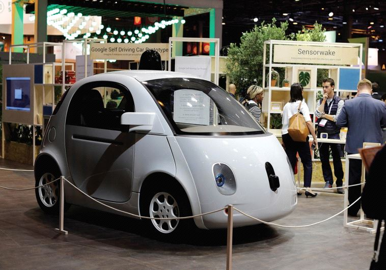 A SELF-DRIVING car by Google is displayed at the Viva Technology event in Paris, France, in June.