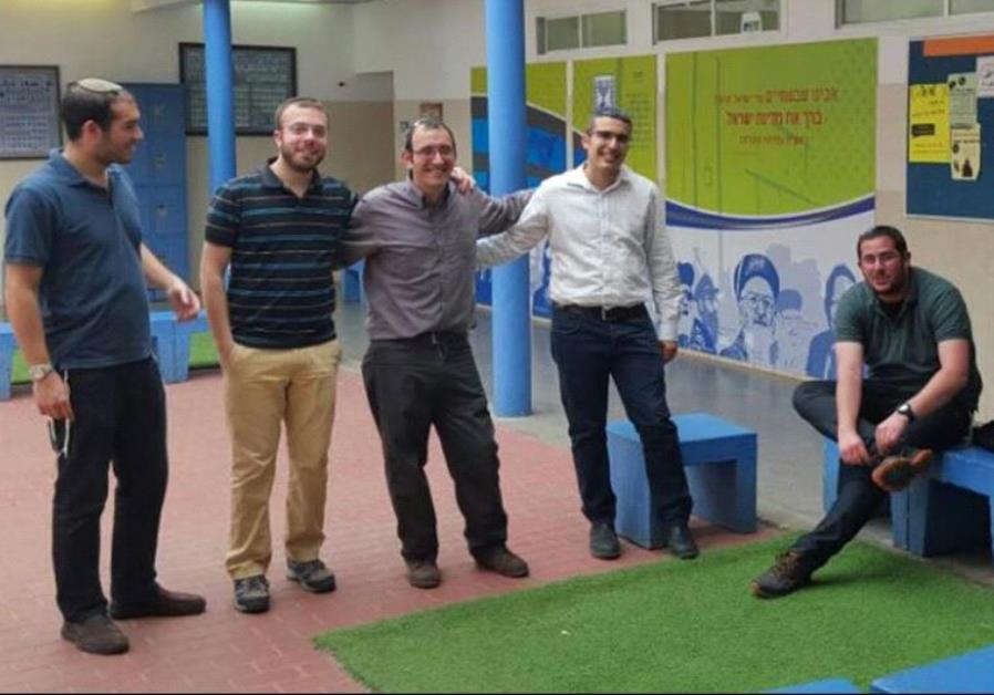 From right to left: Evyatar Greenboim, Shay Hizkiya, Tomer Schupper, Yaakov Shasho, and Hemi Carmiel