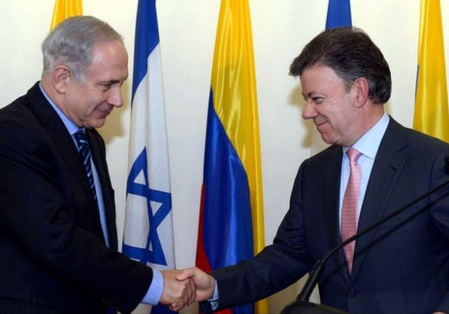 netanyahu colombian president Santos