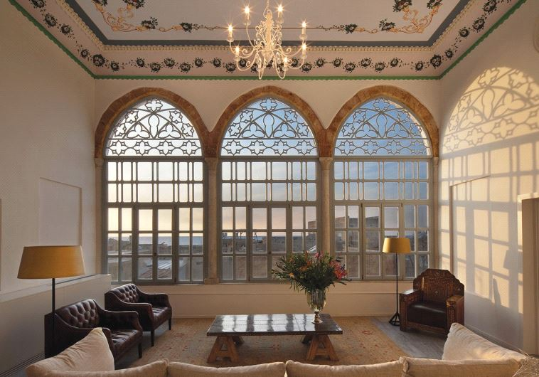 FIT FOR royalty: One of the lavishly furnished common areas at the Efendi Hotel.