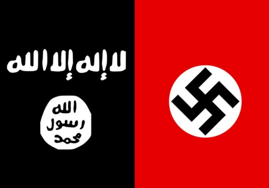 ISIS and Nazi flags