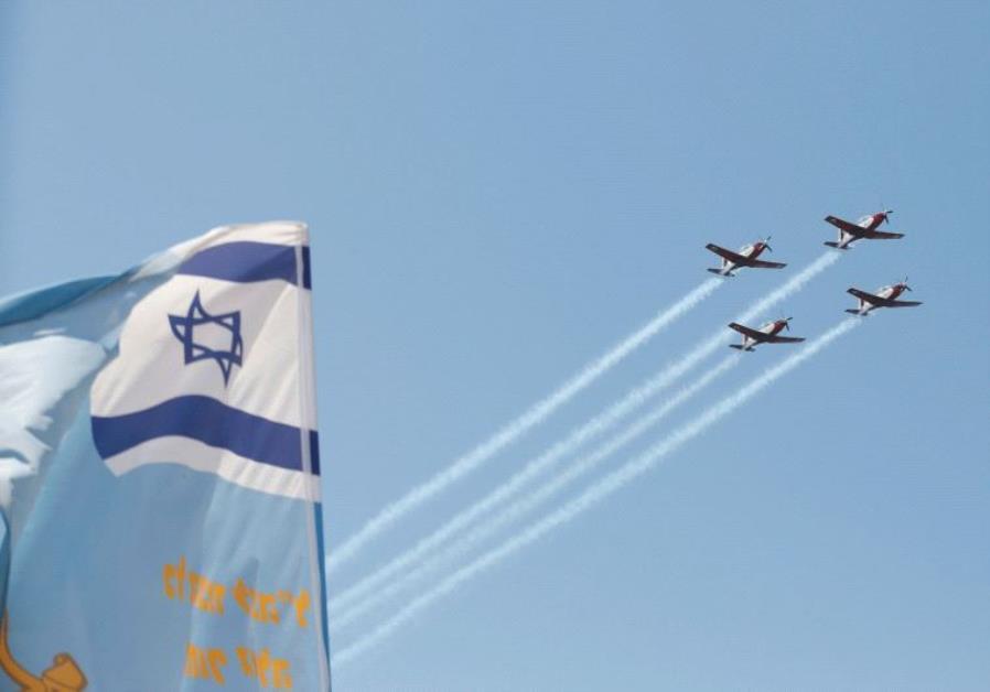 Israel flag plane