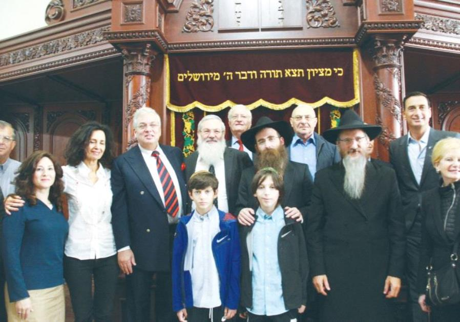 FAMILY MEMBERS and Limmud FSU participants gather at a memorial ceremony in Kazan.