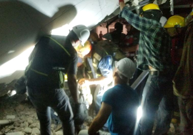 Israel building collapse