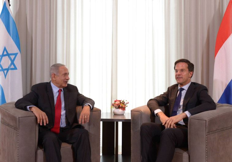 Mark Rutte Benjamin Netanyahu