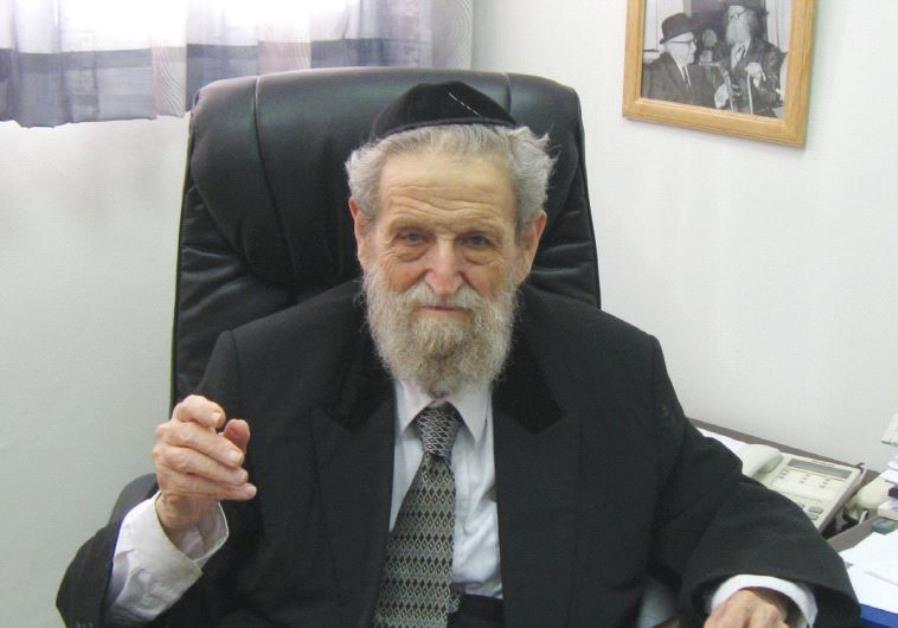 RABBI SHE'AR YASHUV COHEN in his Haifa office in 2012.