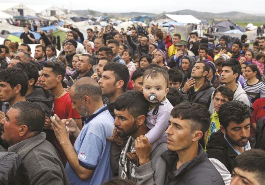 Arrivée de migrants en Europe