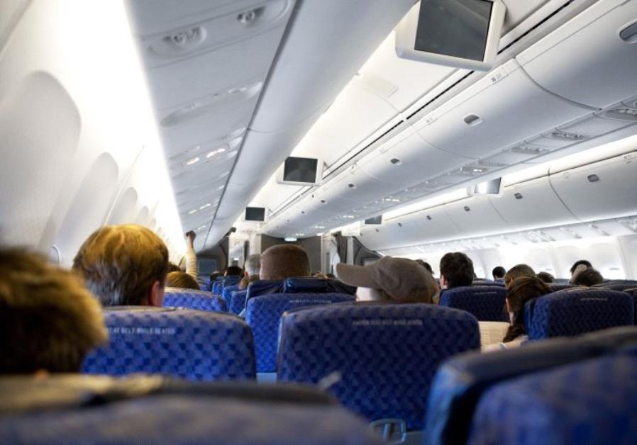 Interor of a passenger airplane