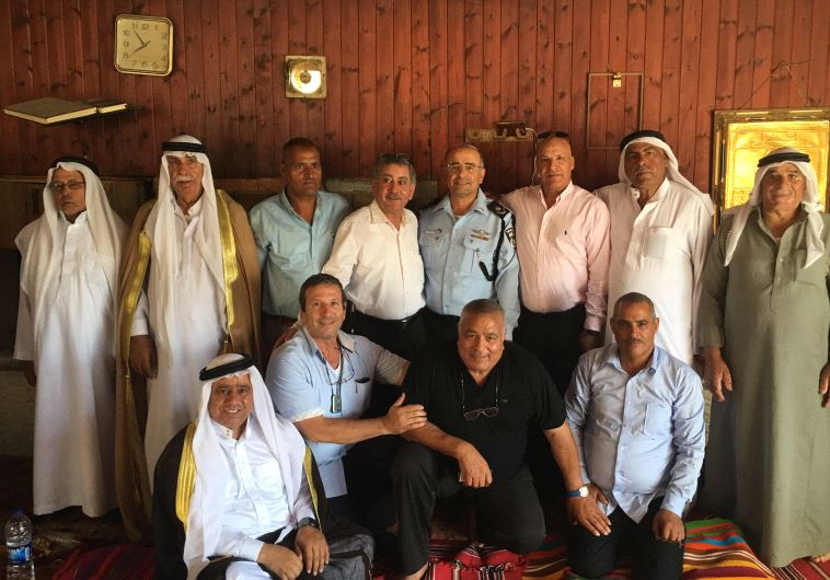 : Southern District Police Commander Major General David Bitan meets with Beduin community leaders