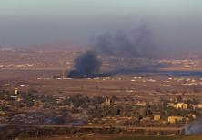 IS DETERRENCE working? Smoke rises last year on the Syrian side of the Golan Heights during fighting