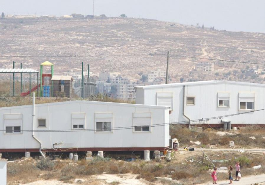 SEVERAL OF THE 40 homes at the Amona outpost, which the High Court has ruled must be removed by Dece