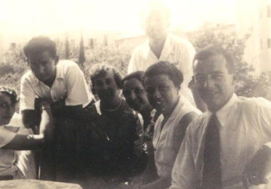 RAOUL WALLENBERG (right) first met German Jewish refugees in Haifa in 1936.