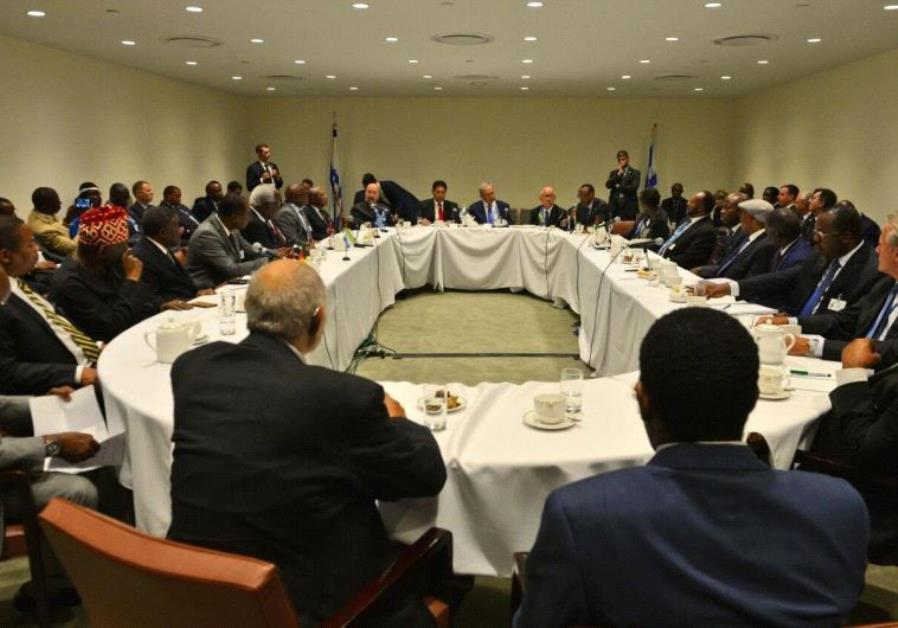 Prime Minister Netahyahu, Ambassador Danon and leaders from African countries and the developing wor
