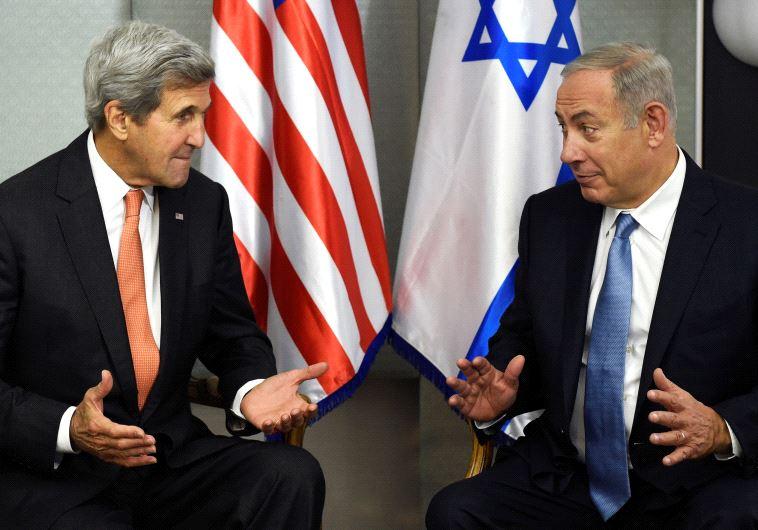 PM Benjamin Netanyahu and US Secretary of State John Kerry