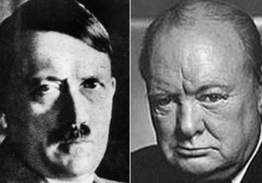 Adolf Hitler and Winston Churchill