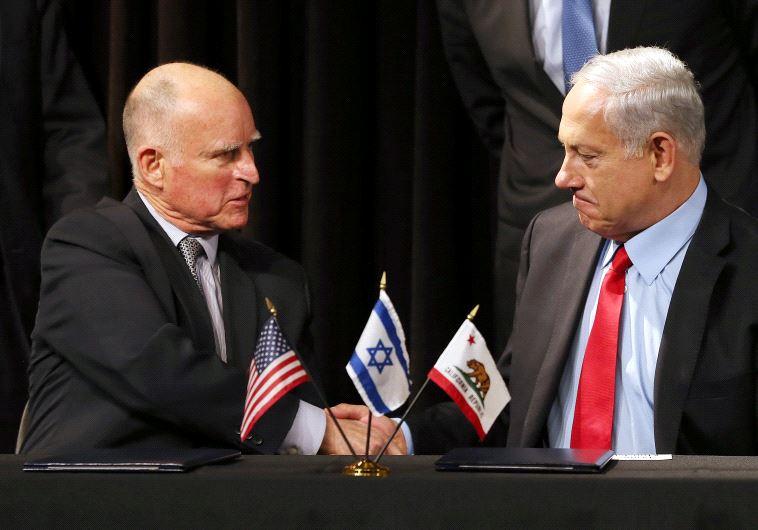 Jerry Brown and Benjamin Netanyahu