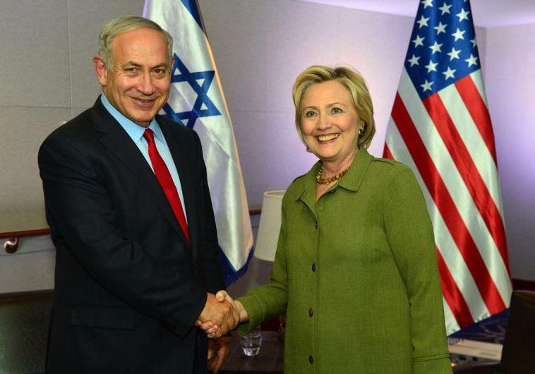 Prime Minister Benjamin Netanyahu and Democratic nominee Hillary Clinton