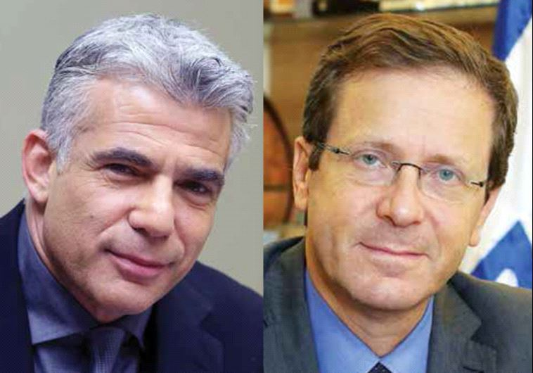 Yair Lapid and Isaac Herzog