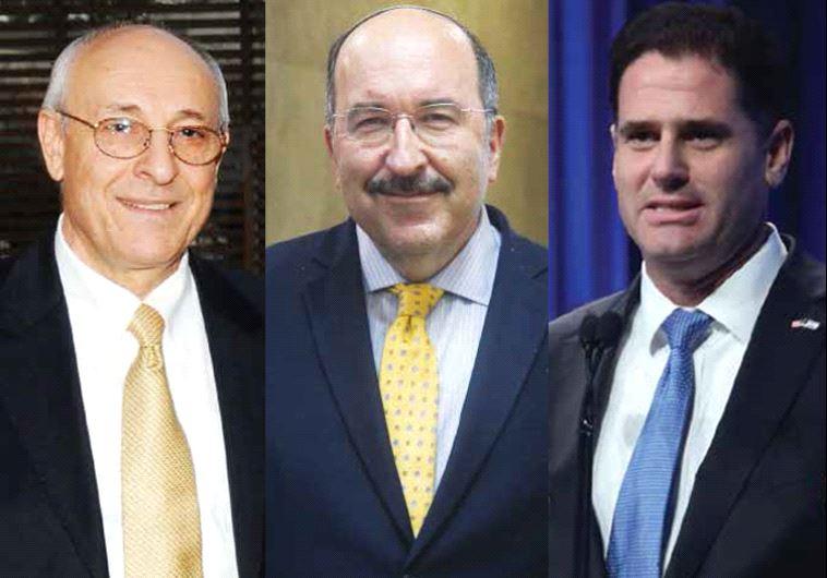 Yitzhak Molcho, Dore Gold and Ron Dermer