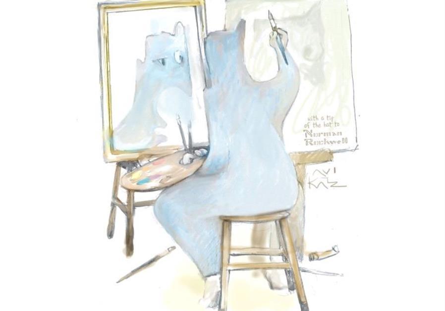 Painting by Avi Katz