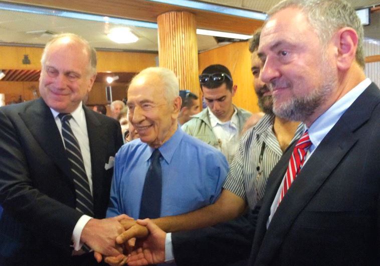 WJC PRESIDENT Ronald Lauder (left): Shimon Peres was always willing to take a chance for peace.