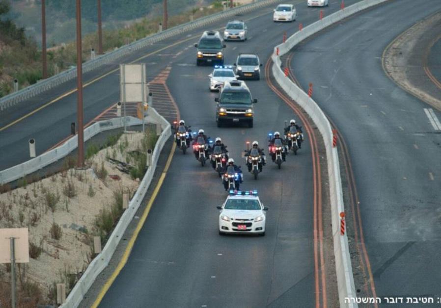 Peres coffin motorcade