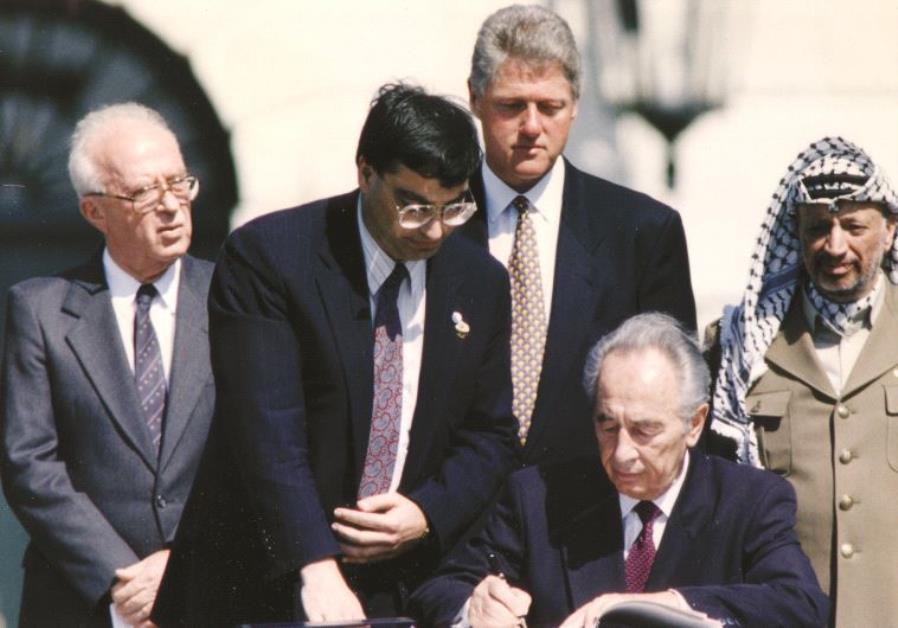 Les signataires des accords d'Oslo