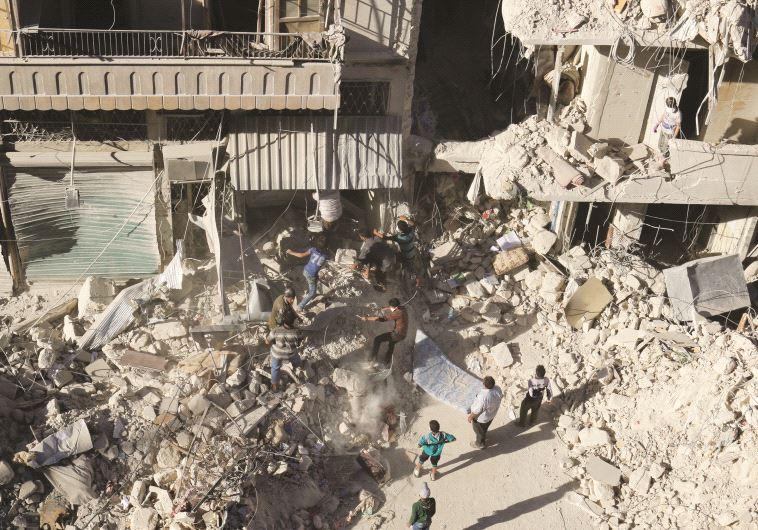 Après les bombardements sur Alep, le 27 septembre