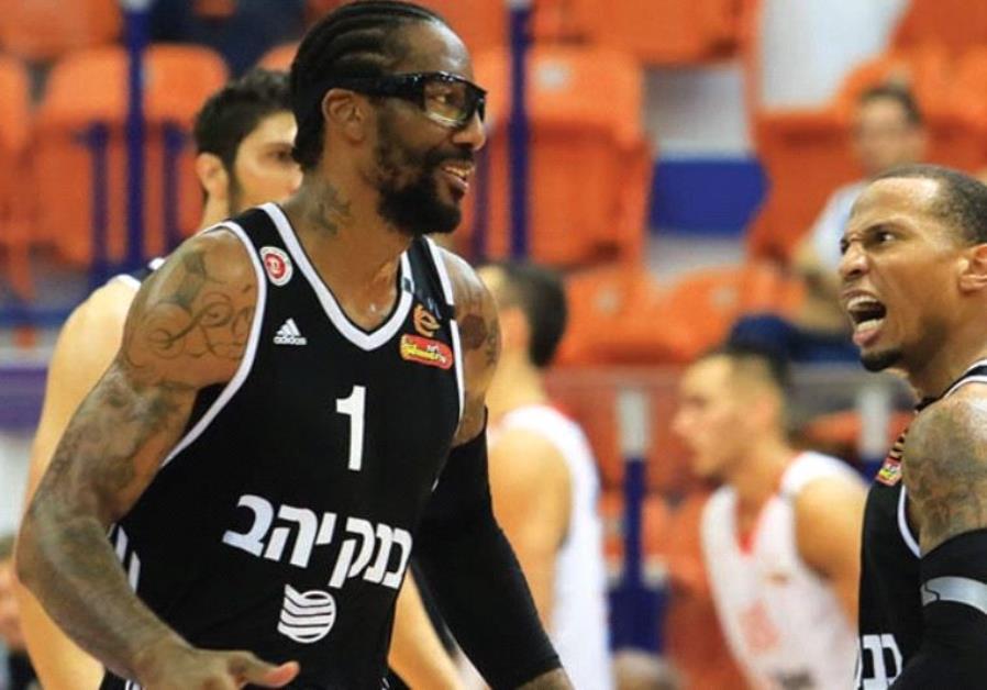 Hapoel Jerusalem center Amar'e Stoudemire (left) had 10 points on his debut on Israeli soil yesterda